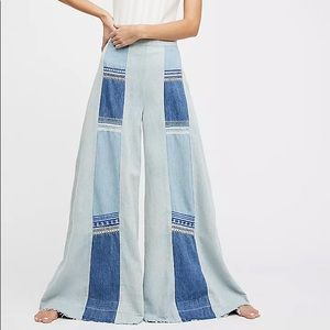 Free People Willa Pieces Wide-Leg Jeans Size 26